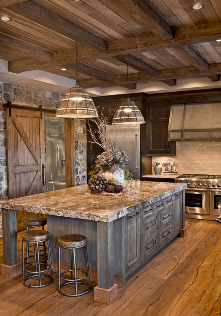23 Stunning Rustic Kitchen Island Ideas