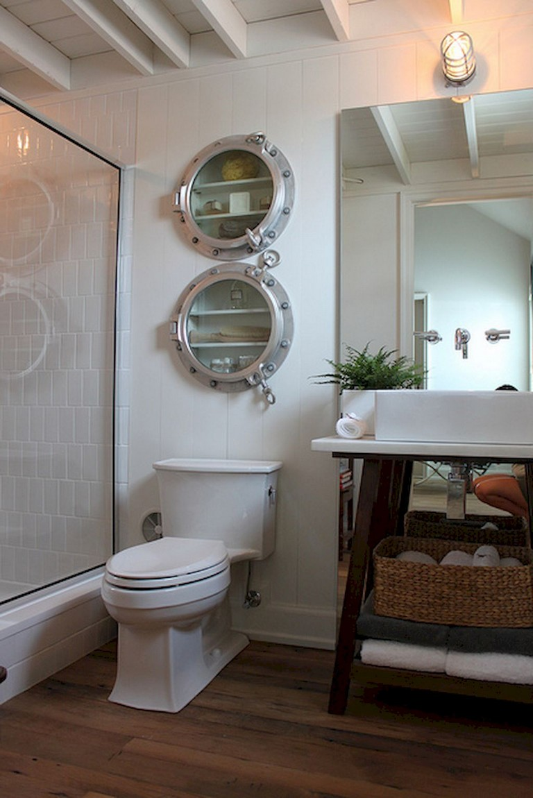 25 Stunning Coastal Nautical Bathroom Remodel Ideas