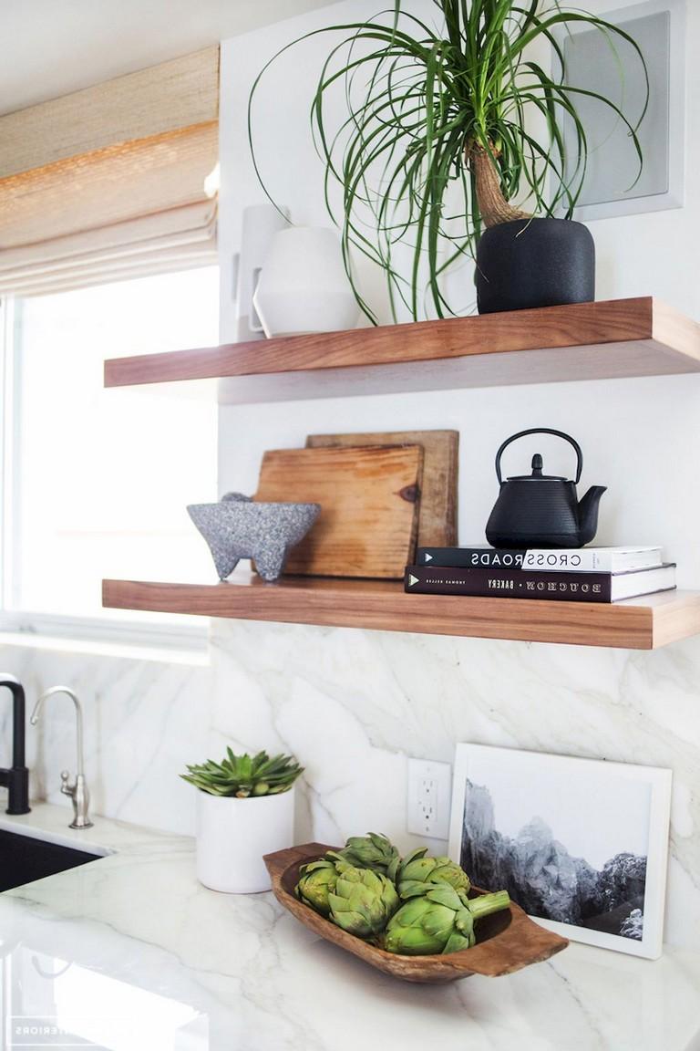 37+ Inspiring DIY Small Kitchen Open Shelves Decor Ideas ...