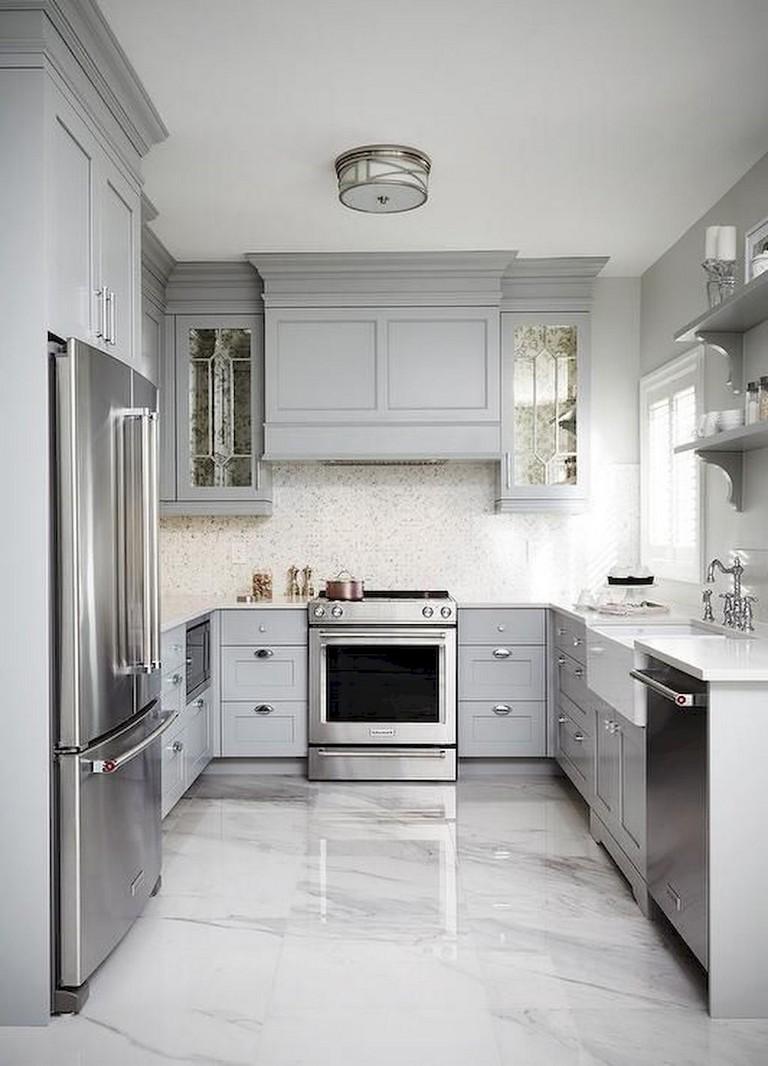 38 beautiful farmhouse gray kitchen cabinet ideas  page