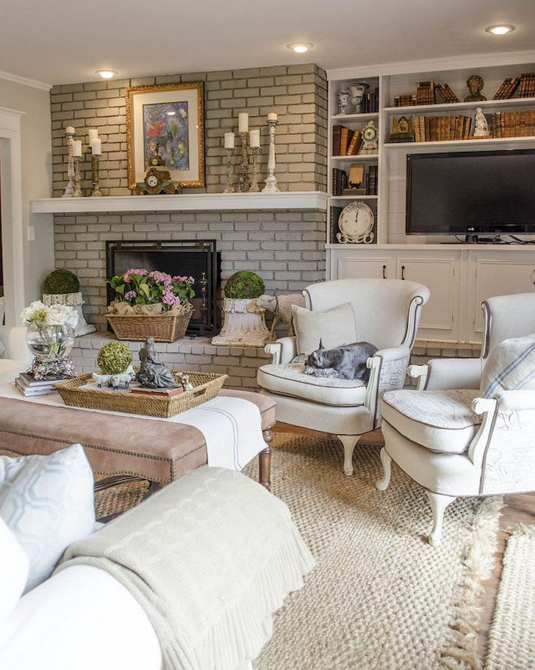 38 stunning vintage french country living room ideas