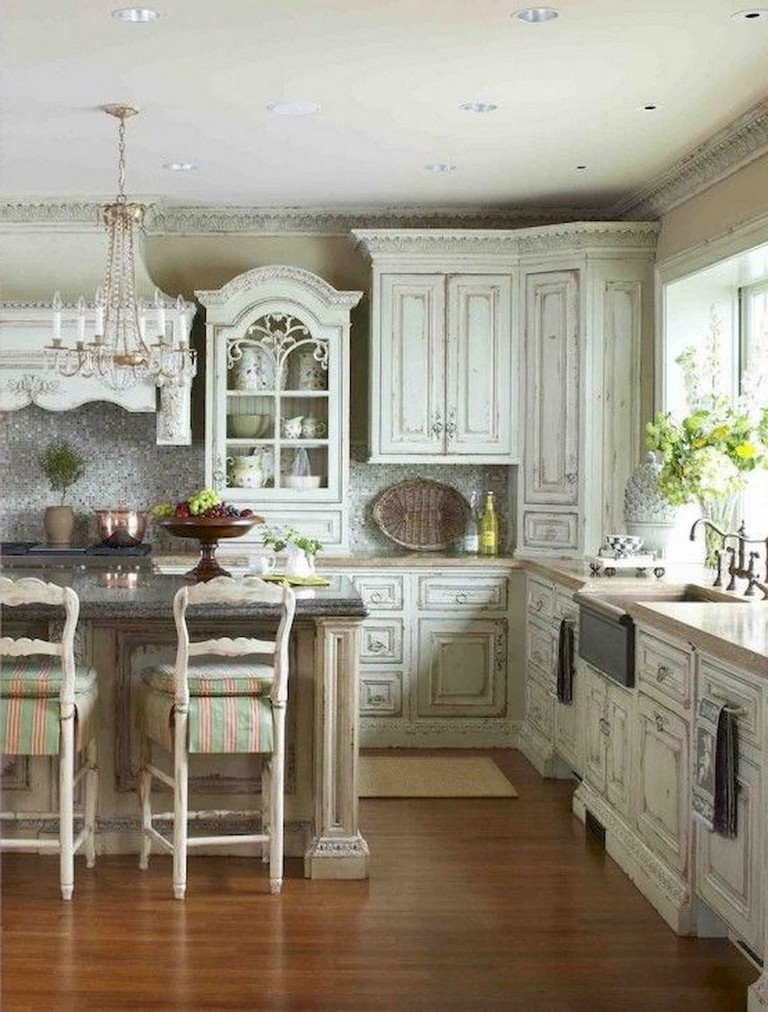 58+ Beautiful French Country Style Kitchen Decor Ideas ...