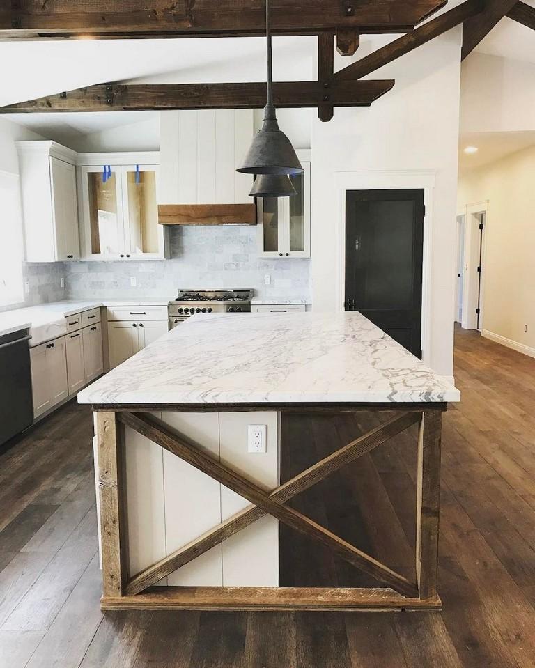 60 Awesome Modern Farmhouse Style Kitchen Makeover Decor Ideas