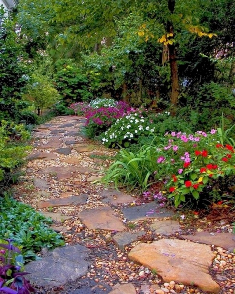 60+ Beautiful Backyard Garden Path & Walkway Ideas On A Budget on Backyard Walkway Ideas id=56217