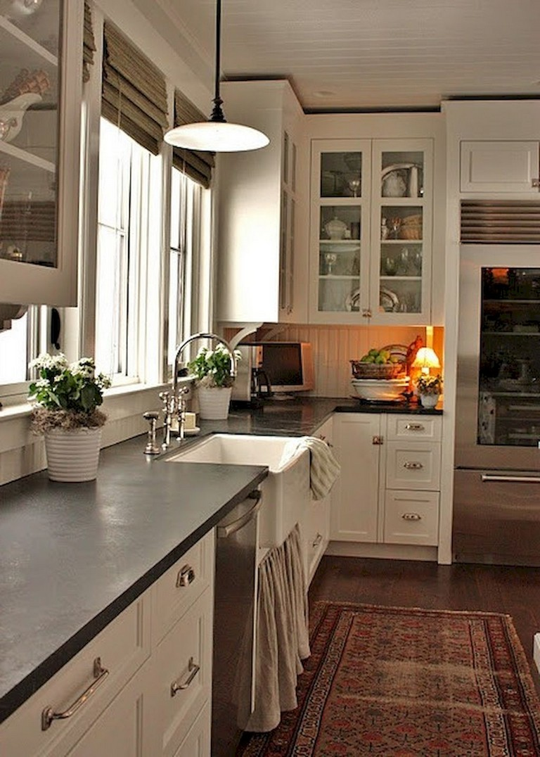 63+ Marvelous Modern Farmhouse Kitchen Cabinet and ...