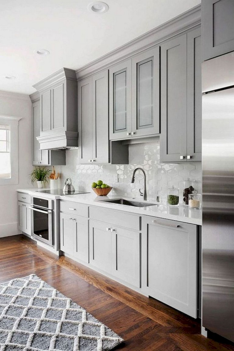 63 Marvelous Modern Farmhouse Kitchen Cabinet And