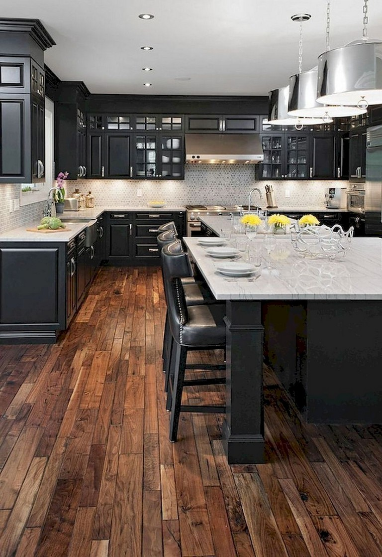 63+ Marvelous Modern Farmhouse Kitchen Cabinet and ... on Farmhouse Counter Tops  id=46587