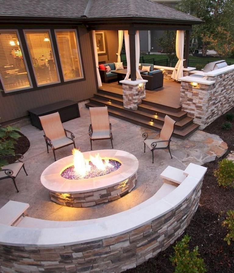 63+ Simple DIY Fire Pit Ideas for Backyard Landscaping ...