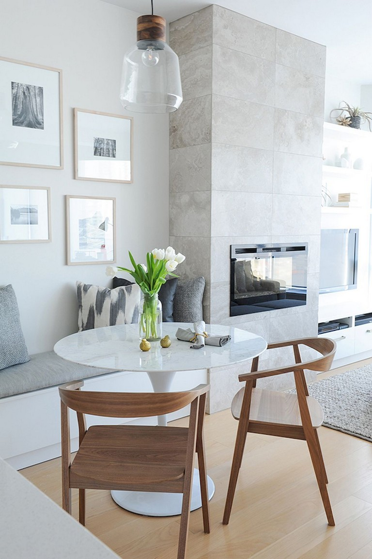 125+ Inspiring Small Clean First Apartment Dining Room Ideas ...