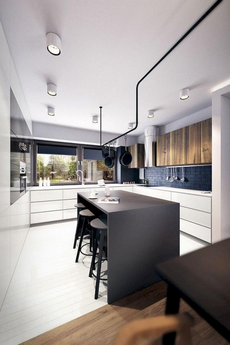 Stunning Black White Wood Kitchen Decor