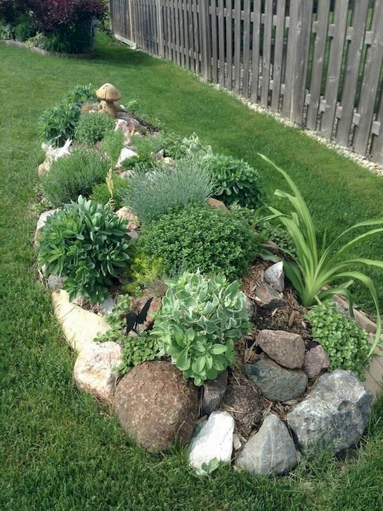 10+ Beauty Front Yard Rock Garden Landscaping Ideas