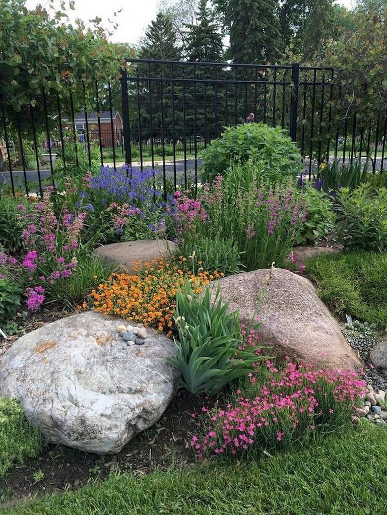 72+ Beauty Front Yard Rock Garden Landscaping Ideas - Page ... on Rocks For Backyard  id=26496