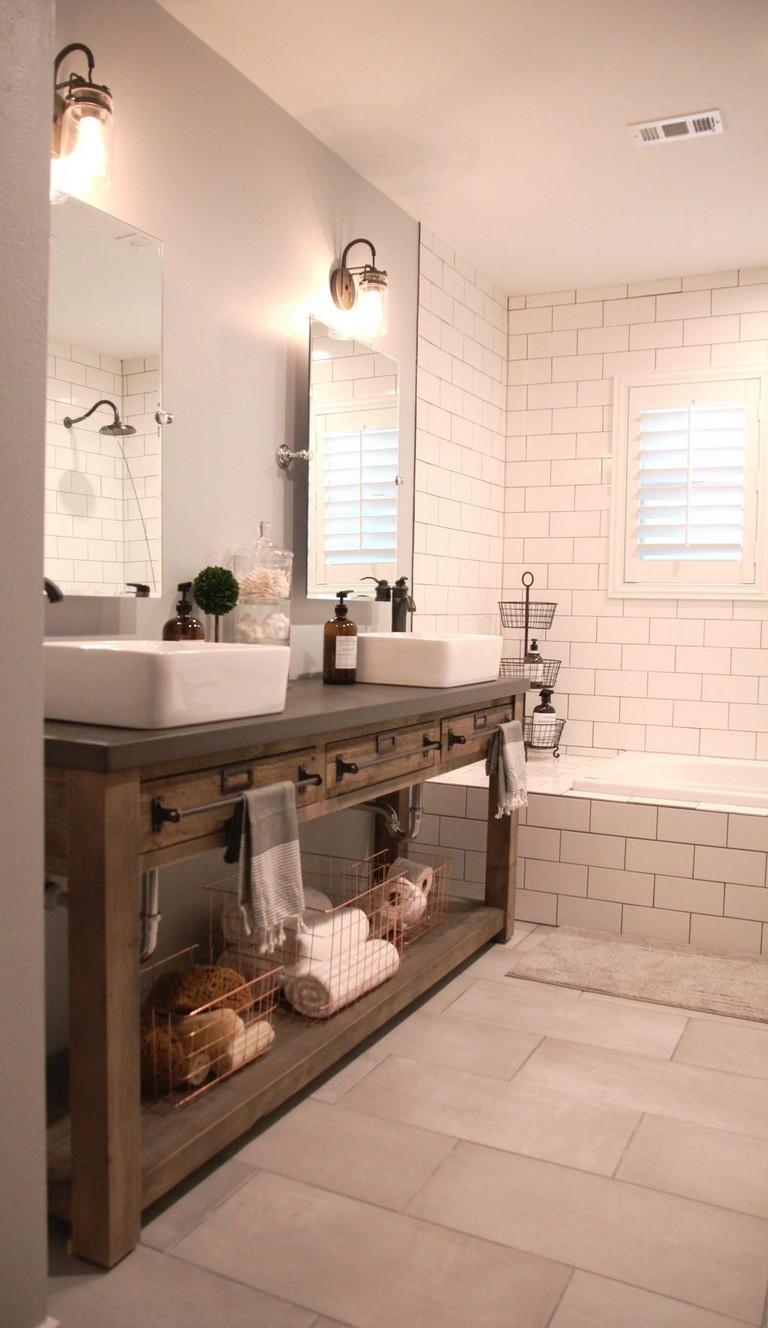 73 marvelous modern farmhouse style bathroom remodel