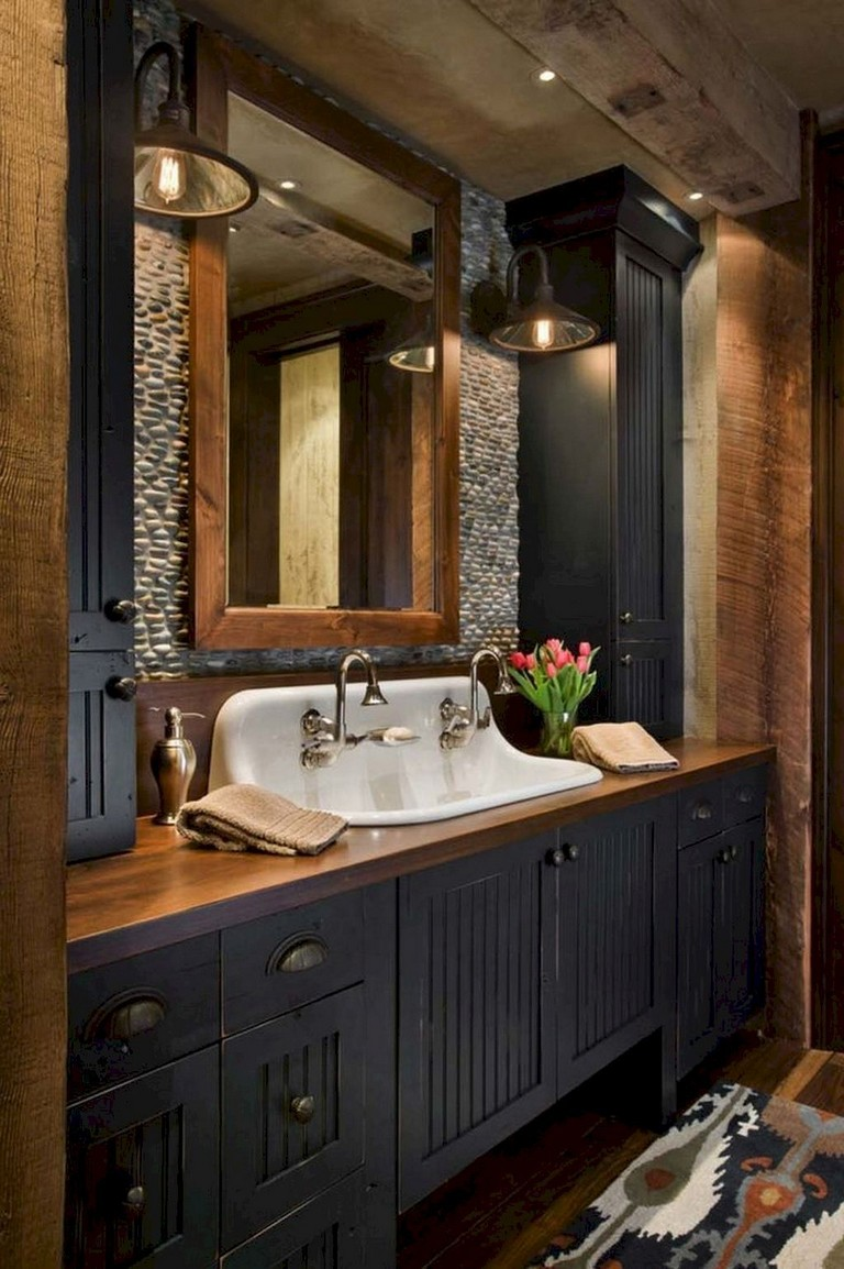 73+ Marvelous Modern Farmhouse Style Bathroom Remodel ...