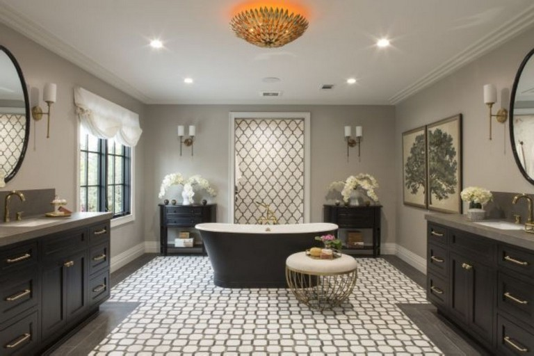 39+ Elegant Black White Bathroom Design Ideas