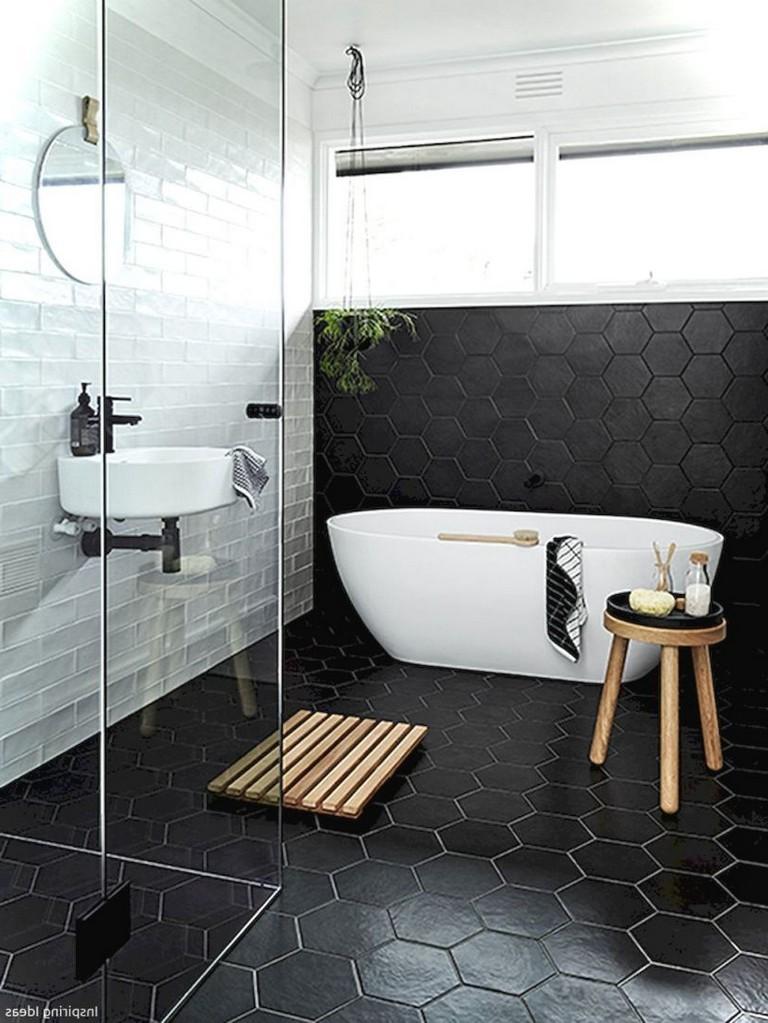 39 Elegant Black White Bathroom Design Ideas