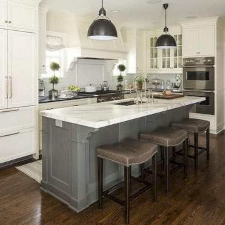 41 Comfy White Kitchen Dark Floors Ideas