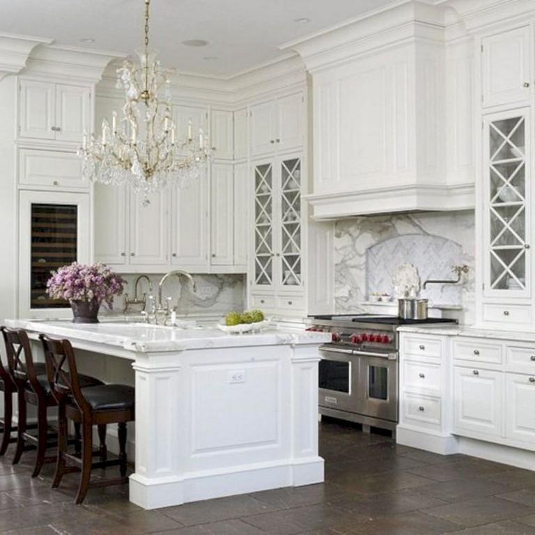 41+ Comfy White Kitchen Dark Floors Ideas   Page 38 of 43