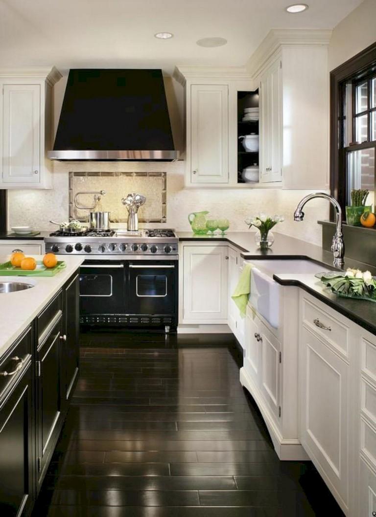 41+ Comfy White Kitchen Dark Floors Ideas   Page 4 of 43