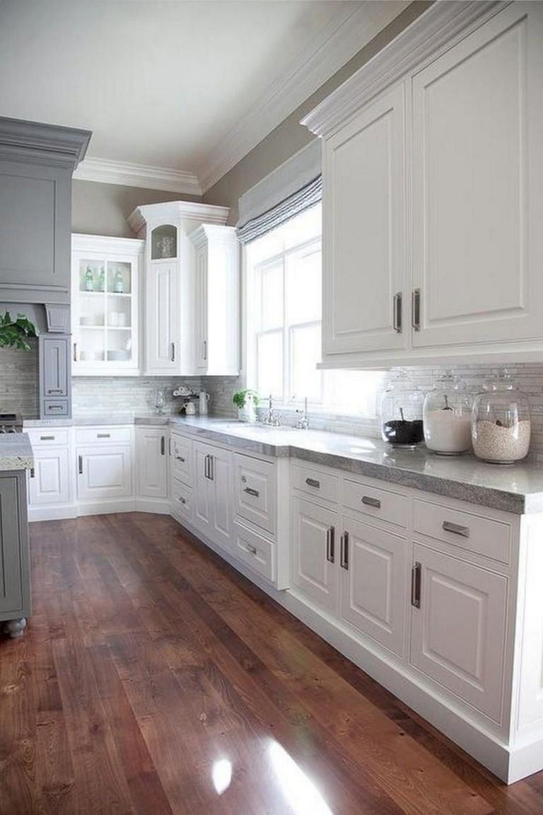 41 Comfy White Kitchen Dark Floors Ideas Page 40 Of 43