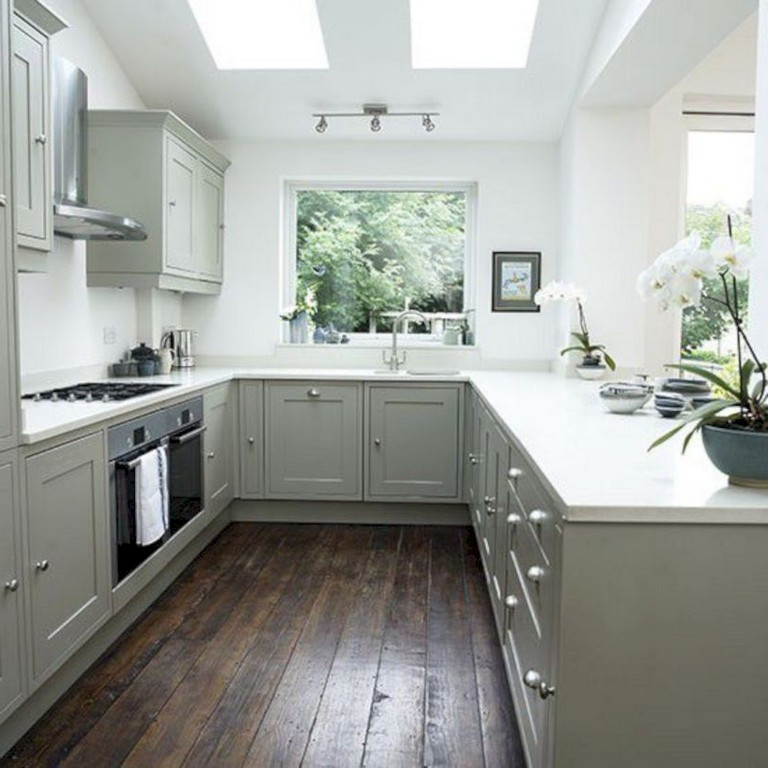 41+ Comfy White Kitchen Dark Floors Ideas   Page 42 of 43