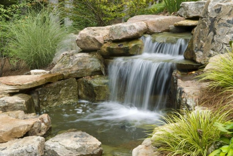 44+ Beauty Small Backyard Waterfall Design Ideas