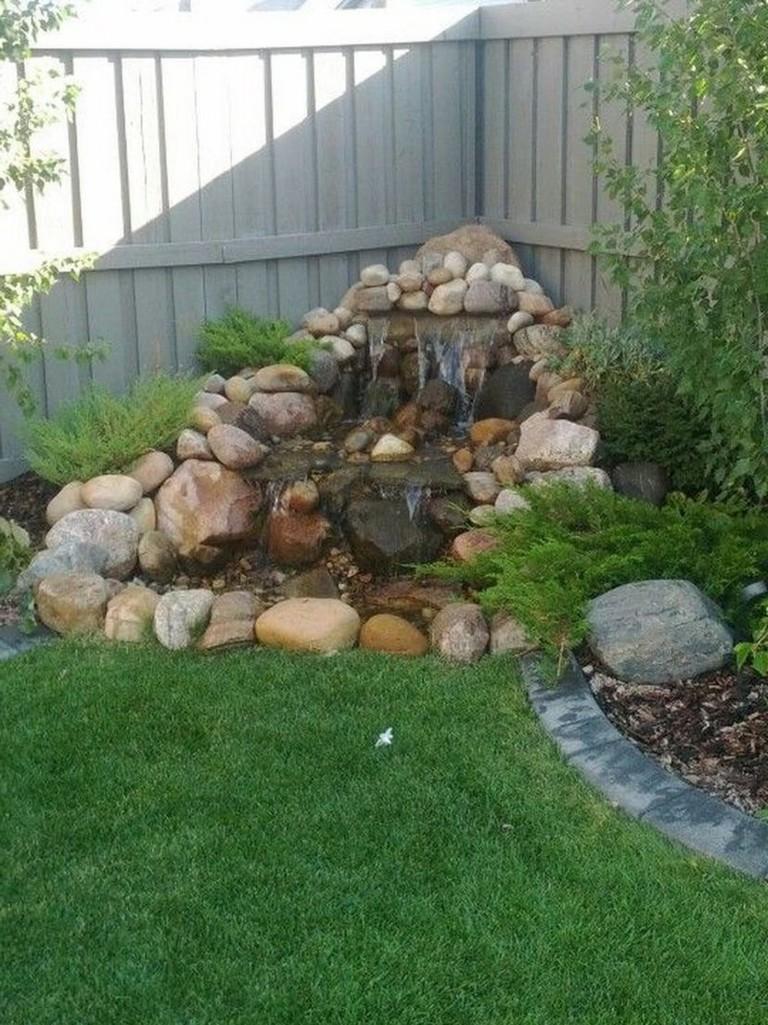 44+ Beauty Small Backyard Waterfall Design Ideas - Page 18 ... on Garden Waterfall Design id=24003