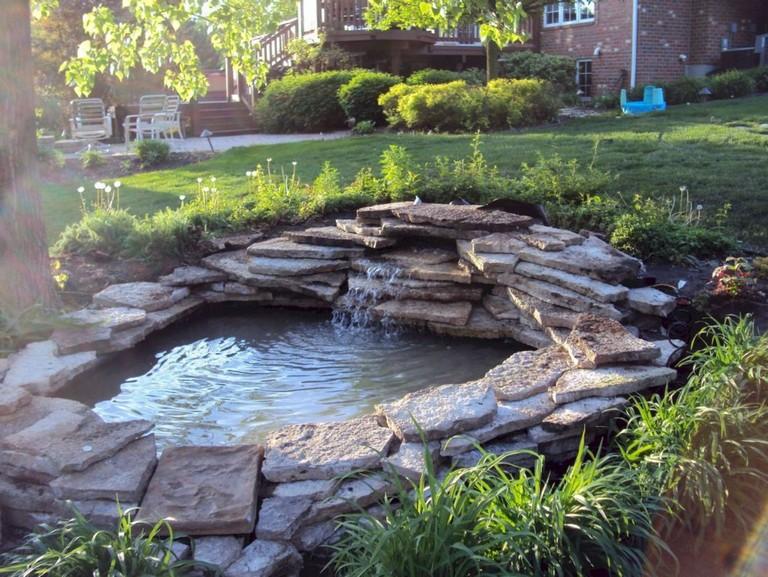 44+ Beauty Small Backyard Waterfall Design Ideas - Page 2 ... on Garden Waterfall Design id=77212