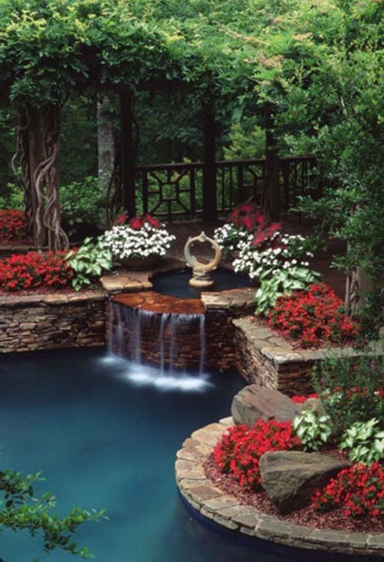 44+ Beauty Small Backyard Waterfall Design Ideas - Page 20 ... on Garden Waterfall Design id=16438
