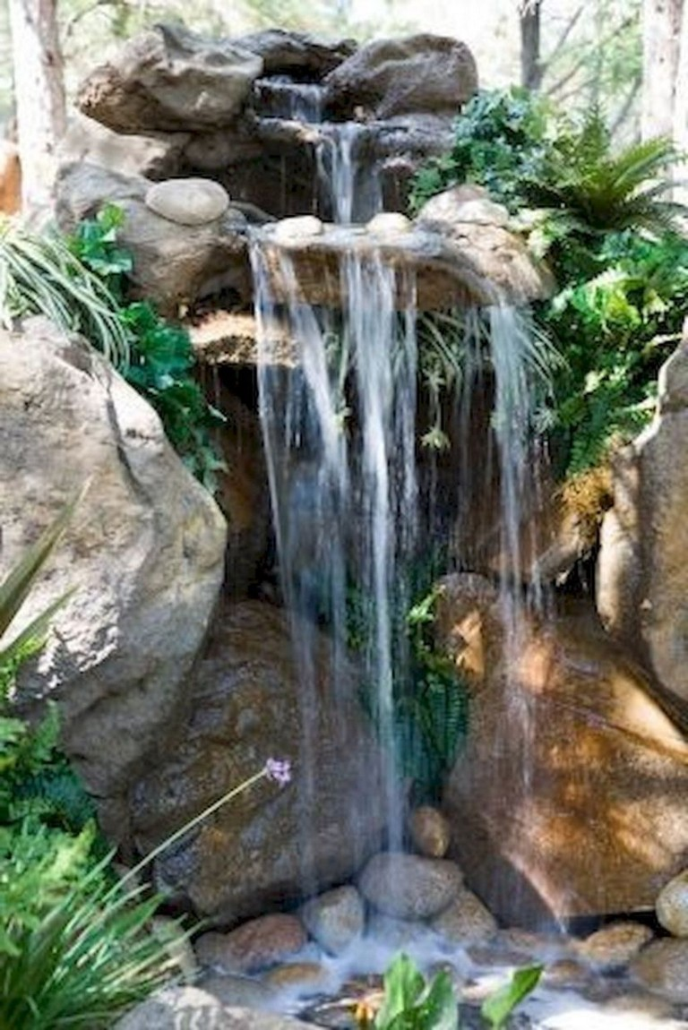 44+ Beauty Small Backyard Waterfall Design Ideas - Page 3 ... on Garden Waterfall Design id=25800