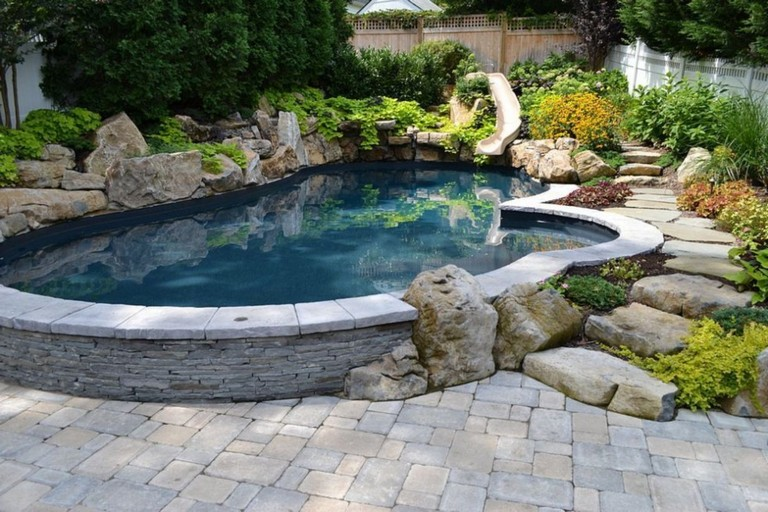 44+ Beauty Small Backyard Waterfall Design Ideas - Page 37 ... on Garden Waterfall Design id=45613