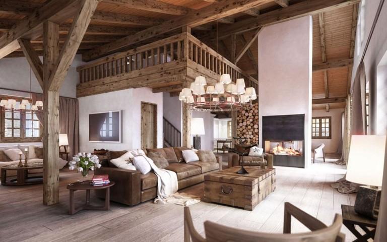 44 Stunning Rustic Mountain Farmhouse Decorating Ideas