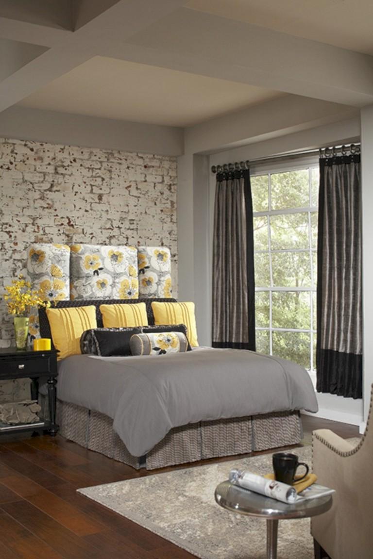 Gray Room Design Ideas: 45+ Cozy Grey Yellow Bedrooms Decorating Ideas