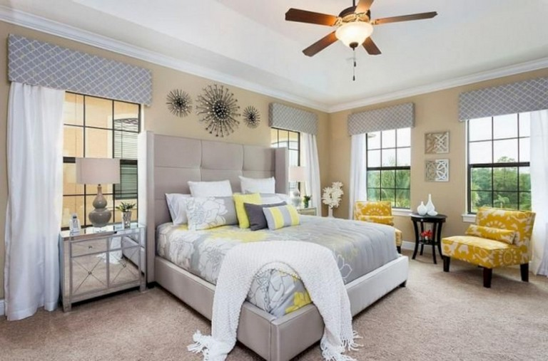45+ cozy grey yellow bedrooms decorating ideas - page 6 of 47