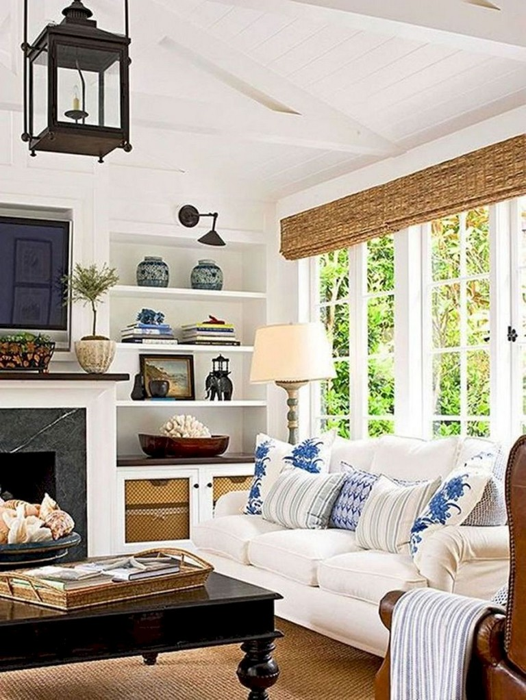 45+ BEAUTIFUL RUSTIC COASTAL LIVING ROOM DESIGN IDEAS ...