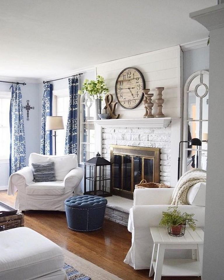 45 beautiful rustic coastal living room design ideas